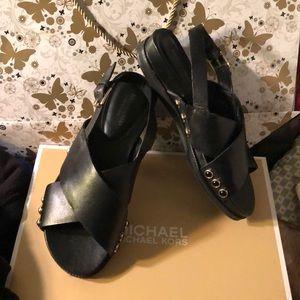 Leather Isaac Mizrahi sandal with jewels